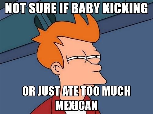 baby kicking quote
