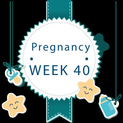 40 week pregnant banner